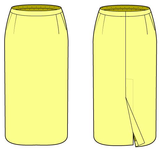 ロングタイトスカートの作り方 無料の型紙付き